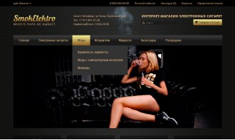 Создание интернет-магазина для продажи электронных сигарет и аксессуаров